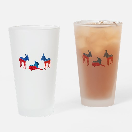 Dem Donkeys Drinking Glass