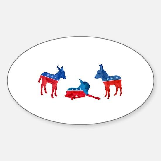 Dem Donkeys Sticker (Oval)