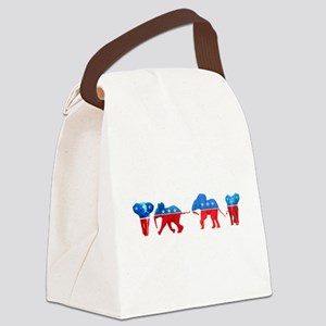 Republican Elephants Canvas Lunch Bag