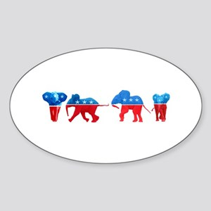 Republican Elephants Sticker (Oval)