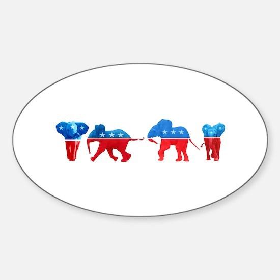 Republican Elephants Sticker (Oval)