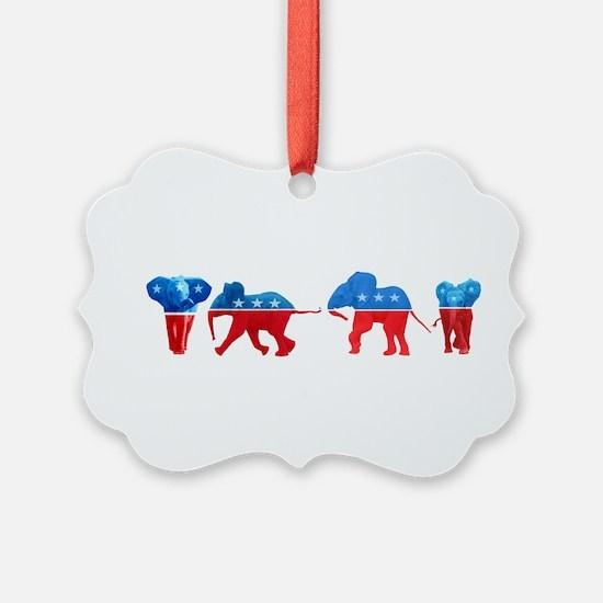 Republican Elephants Ornament