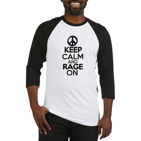 keep calm rage on Baseball Jersey