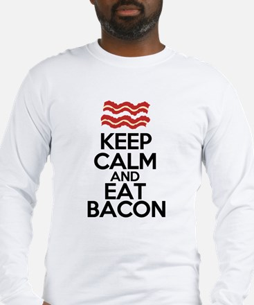 keep-calm-bacon-funny-eat Long Sleeve T-Shirt