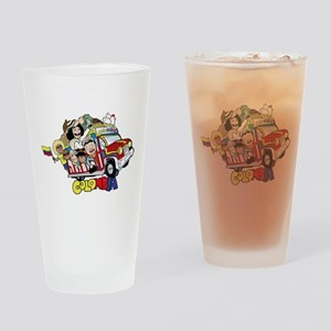 Colombian Chiva Drinking Glass