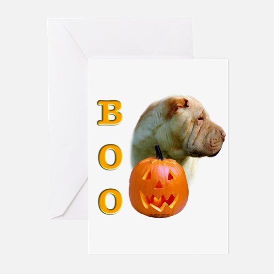 Halloween Shar Pei Boo Greeting Cards (Package of