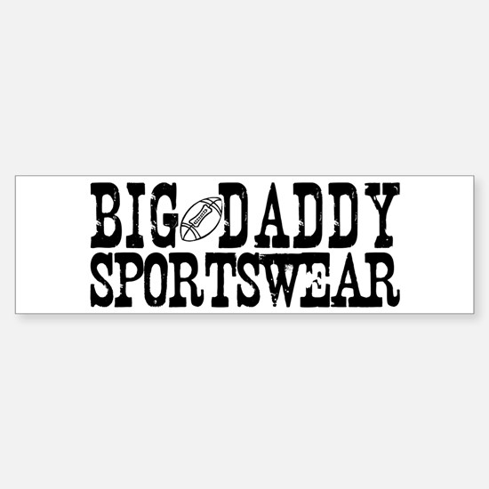 BIG DADDY FOOTBALL Bumper Car Car Sticker