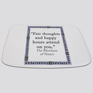 Fair Thoughts and Happy Hours Bathmat