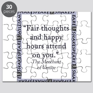 Fair Thoughts and Happy Hours Puzzle