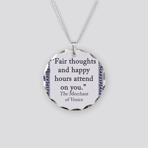 Fair Thoughts and Happy Hours Necklace Circle Char
