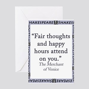 Fair Thoughts and Happy Hours Greeting Card