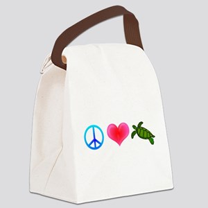 peaceloveturtle Canvas Lunch Bag
