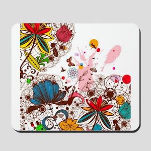 Bright Modern Floral Mousepad
