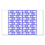 Polar Bear Pattern Sticker (Rectangle 10 pk)