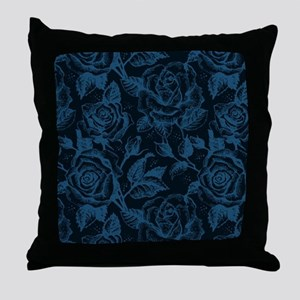 Gothic Roses Throw Pillow