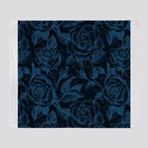 Gothic Roses Throw Blanket