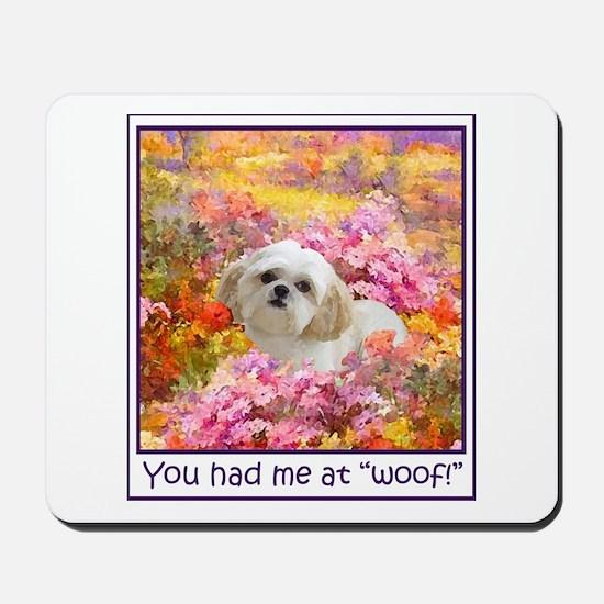 Shih Tzu Fine Art Lily Mousepad