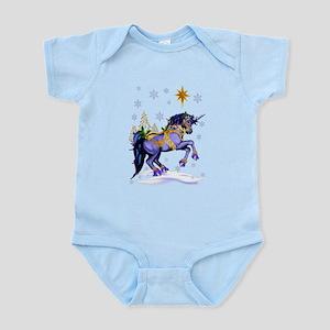 Bright Christmas Unicorn Infant Bodysuit