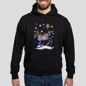 Bright Christmas Unicorn Hoodie (dark)