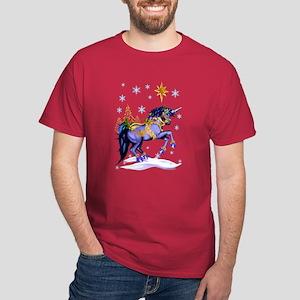 Bright Christmas Unicorn Dark T-Shirt