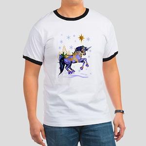 Bright Christmas Unicorn Ringer T