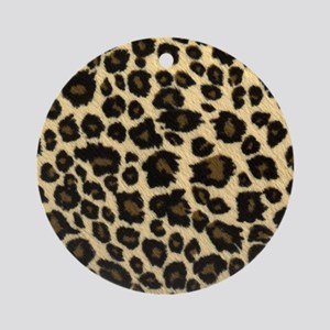 Leopard Print Ornament (Round)