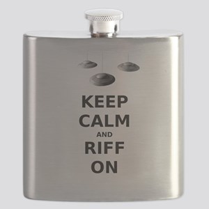 Keep Calm and Riff On Flask