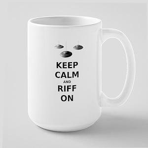 Keep Calm and Riff On Large Mug