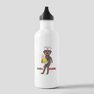 NICU Nurse sock monkey Stainless Water Bottle