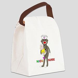 NICU Nurse sock monkey Canvas Lunch Bag