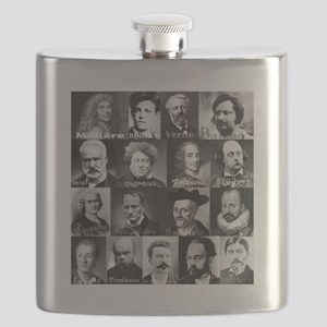 French Lit Faces Flask