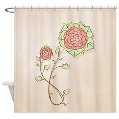Rose Flower Doodle1 Shower Curtain