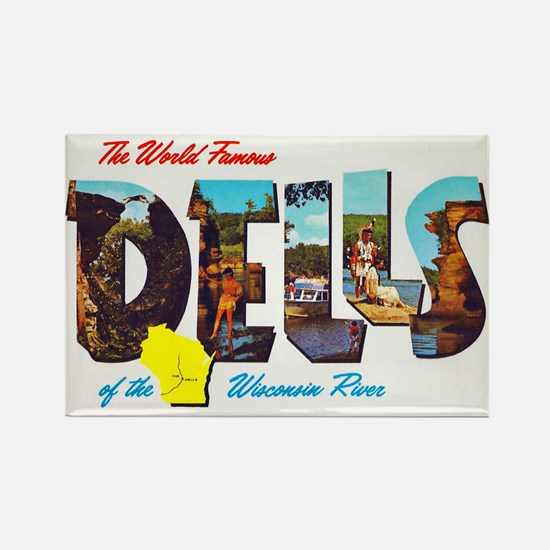 Dells Wisconsin Greetings Rectangle Magnet