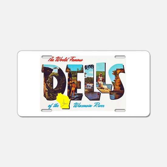 Dells Wisconsin Greetings Aluminum License Plate