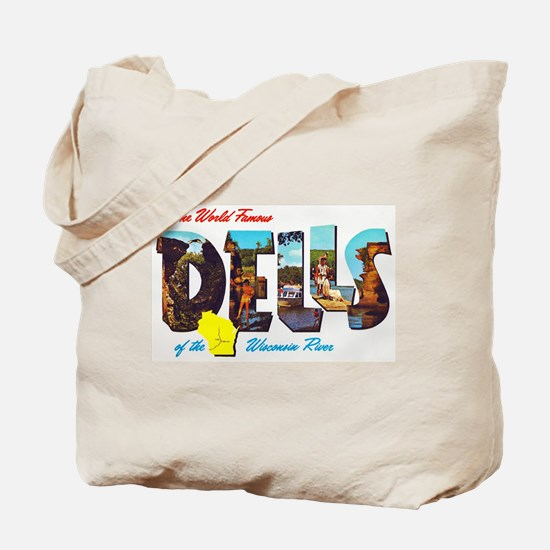 Dells Wisconsin Greetings Tote Bag