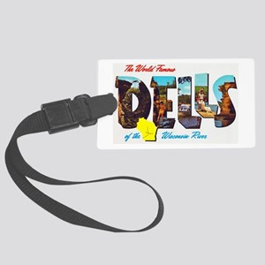 Dells Wisconsin Greetings Large Luggage Tag