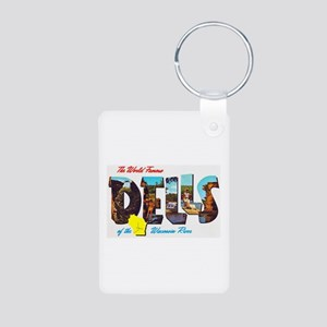 Dells Wisconsin Greetings Aluminum Photo Keychain