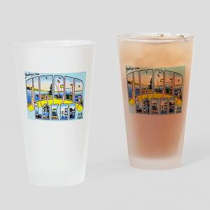 Finger Lakes New York Drinking Glass