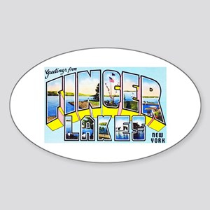 Finger Lakes New York Sticker (Oval)
