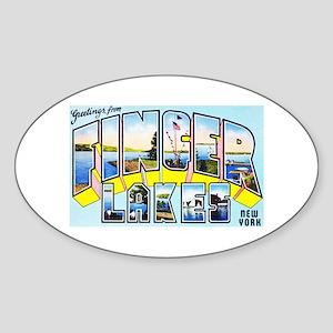 Finger Lakes New York Sticker (Oval)