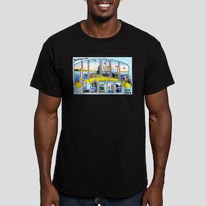 Finger Lakes New York Men's Fitted T-Shirt (dark)