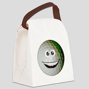 Happy golf ball Canvas Lunch Bag