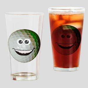 Happy golf ball Drinking Glass
