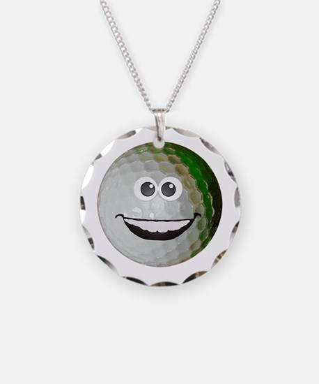 Happy golf ball Necklace