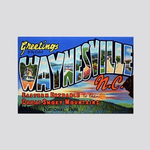 Waynesville North Carolina Rectangle Magnet