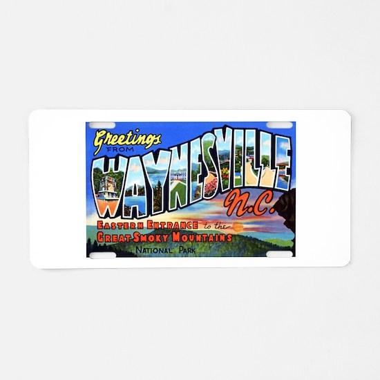 Waynesville North Carolina Aluminum License Plate