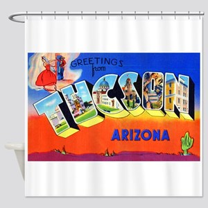 Tucson Arizona Greetings Shower Curtain