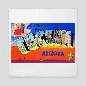 Tucson Arizona Greetings Queen Duvet