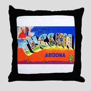 Tucson Arizona Greetings Throw Pillow