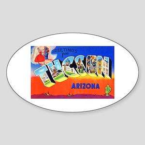 Tucson Arizona Greetings Sticker (Oval)